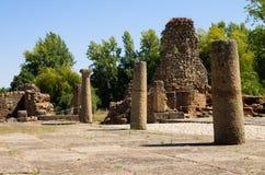 Detail van de het zuidenpoort van de Ammaia roman stad Stock Afbeelding