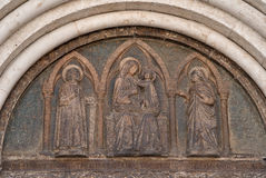 Detail van de ingang van de kathedraal Royalty-vrije Stock Fotografie
