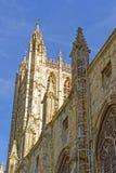 Detail van de Kathedraal van Canterbury in Canterbury in Kent van Engeland stock foto's