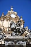 Detail van de Kathedraal van San Giorgio, Ragusa Ibla, Italië Stock Foto's