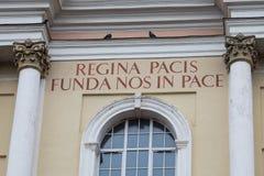 Detail van de Kerk van St Peter en St Paul, Vilnius, Lithuan Stock Fotografie