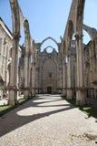 Detail van de kerk van Carmo in Lissabon Stock Foto's