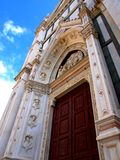 Detail van de kerk van Croce van de Kerstman in Florence Stock Foto's