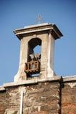 Detail van de kleine klokketoren Royalty-vrije Stock Afbeeldingen