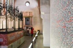 Detail van de lijst van Joden moord in de Holocaust - Praag, C royalty-vrije stock foto's