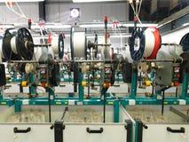 Detail van de lopende band van de draadfabriek Royalty-vrije Stock Foto
