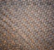 Detail van de met de hand gemaakte textuur van het bamboeweefsel voor achtergrond Stock Afbeeldingen