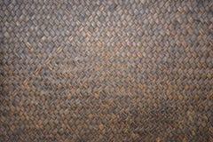 Detail van de met de hand gemaakte textuur van het bamboeweefsel voor achtergrond Royalty-vrije Stock Fotografie