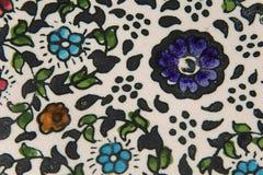 Detail van de oude hand het geschilderde schotel Stock Foto's