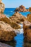 Detail van de Spaanse kust royalty-vrije stock foto's