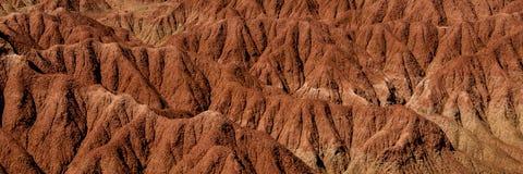 Detail van de steenrots van het Droogte rode oranje zand Stock Fotografie