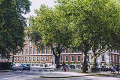 Detail van de straten van de stadscentrum van Londen dichtbij Grosvenor Squar Royalty-vrije Stock Foto