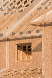 Detail van de structuur van een nieuw huis Royalty-vrije Stock Afbeeldingen