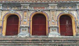 Detail van de tempel in Hue Citadel, Vietnam royalty-vrije stock fotografie