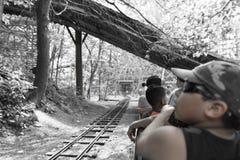 Detail van de trein voor kinderen en toeristen Stock Foto's