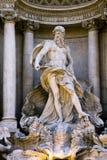 Detail van de Trevi Fontein in Rome. Stock Afbeelding