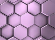Detail van de unie van samen bij aangesloten violish metaal hexagonale vormen royalty-vrije illustratie