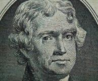 Detail van de V.S. $2.00 Rekening 2 Stock Foto's