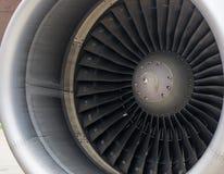 Detail 1 van de vliegtuigturbine Stock Foto's