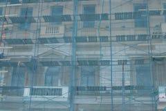 Detail van de voorgevel van een oud gebouw Royalty-vrije Stock Foto