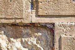 Detail van de Westelijke Muur in Jelusalem, Israël Royalty-vrije Stock Fotografie