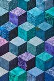 Detail van dekbed van ruiten wordt genaaid die Royalty-vrije Stock Afbeelding