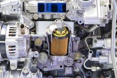 Detail van Dieselmotor Stock Afbeelding