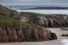 Detail van Durness-Strand op de Atlantische Oceaan in Noord-Schotland Royalty-vrije Stock Foto