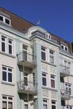 Detail van een Art Nouveau-huis in de stad stock foto