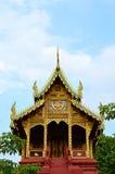 Detail van een boeddhistisch kloosterdak in Boeddhistische Tempel, Thailand Stock Foto