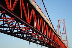 Detail van een brug Stock Fotografie