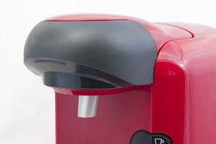 Detail van een capsule coffe machine stock foto's