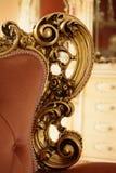 Detail van een decoratie van een barokke stijlbank royalty-vrije stock foto's