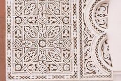 Detail van een decoratie van het Paleis van Gr Badi Stock Foto