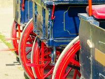 Detail van een door paarden getrokken vervoer stock afbeeldingen