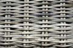 Detail van een doorstane rietligstoel Royalty-vrije Stock Fotografie