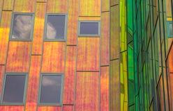 Detail van een eigentijds bureaugebouw in Deventer Royalty-vrije Stock Fotografie