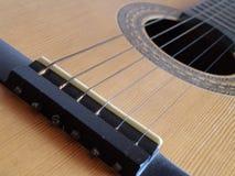 Detail van een gitaar Royalty-vrije Stock Afbeelding