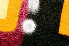 Detail van een graffiti als behang, textuur, oogvanger Royalty-vrije Stock Foto
