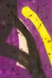 Detail van een graffiti als behang, textuur, oogvanger Royalty-vrije Stock Afbeeldingen