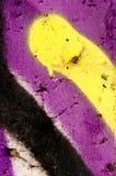 Detail van een graffiti als behang, textuur, oogvanger Stock Afbeeldingen