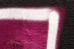 Detail van een graffiti als behang, textuur, oogvanger Stock Foto