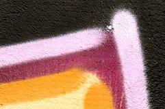 Detail van een graffiti als behang, textuur, oogvanger Royalty-vrije Stock Foto's