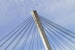 Detail van een hangbrug stock foto's