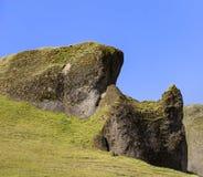 Detail van een heuvel in het zuiden van IJsland stock foto