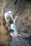 Detail van een hol langs de kust royalty-vrije stock foto