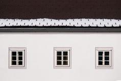 Detail van een huis Stock Fotografie