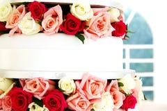 Detail van een huwelijkscake Royalty-vrije Stock Afbeelding