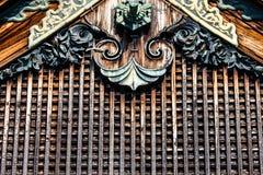 Detail van een Japans dak Stock Foto's