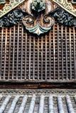 Detail van een Japans dak Stock Foto